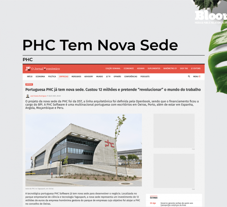 Bloomcast consulting phc projeto