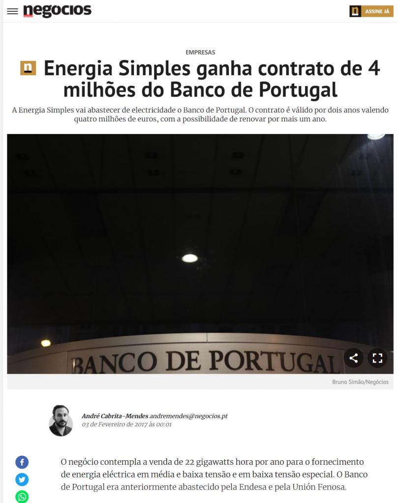 Energia simples jornal de negócios