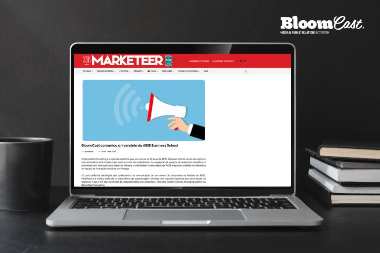 BloomCast marketeer AESE comunicar os 40 anos